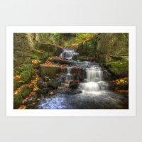 Bentley Brook Waterfall Art Print