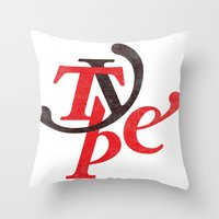 Type Throw Pillow