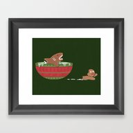 Gingerbread Jaws Framed Art Print
