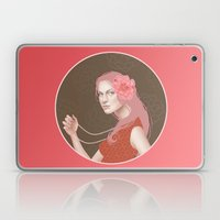 Girl Holding a Pearl Necklace Laptop & iPad Skin