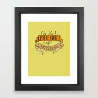 Leslie Knope, Yellow Framed Art Print