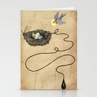 Bird's Winged Flight  Stationery Cards