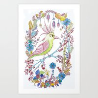 Exotic Bird Art Print