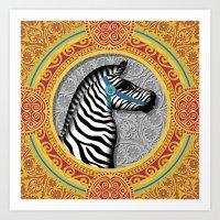 The Carousel Zebra Art Print