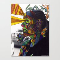 Psychoactive Bear 8 Canvas Print
