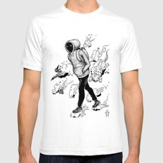 Dream Walking Mens Fitted Tee SMALL White