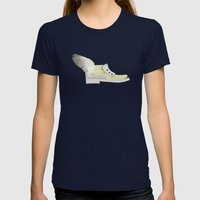 Flying shoe Womens Fitted Tee Navy SMALL