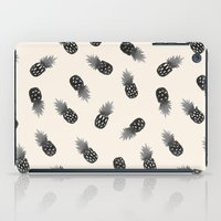 Watercolor Pineapples Bl… iPad Case