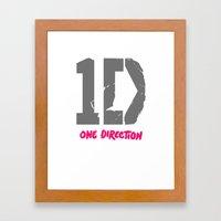 1 Direction Framed Art Print