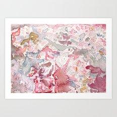 Pink Watercolor Art Print