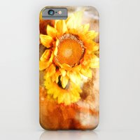 iPhone Cases featuring Sunflowers Aglow by Mary Timman