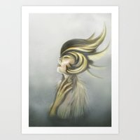 The Mandarin Ducks: Silence Art Print