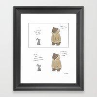 Bunny, It's Cold Outside  Framed Art Print