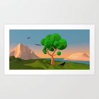 The apple tree Art Print