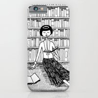 iPhone & iPod Case featuring She just wanted to read books and do nothing else by kate gabrielle