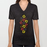 Blooming Wild (red & Yel… Unisex V-Neck