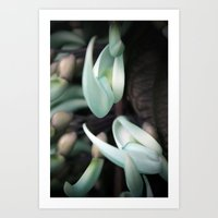 Minty Leaves Art Print