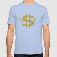 High Class Lifestyle Mens Fitted Tee Tri-Blue SMALL