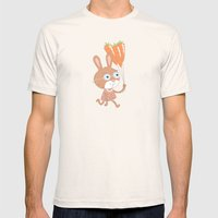 Happy Bunny Mens Fitted Tee Natural SMALL