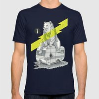 Camping Bear Mens Fitted Tee Navy SMALL