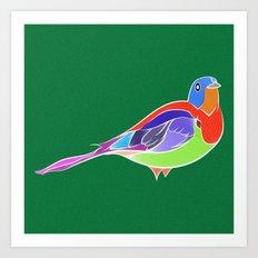 Bird - Green Art Print