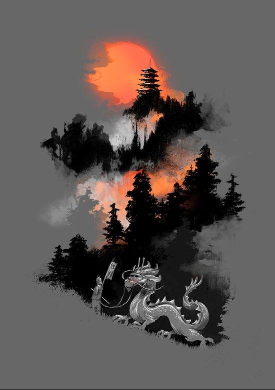 A samurai's life Art Print