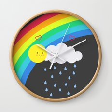 the truth about rainbows Wall Clock