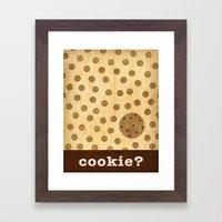 cookie? Framed Art Print