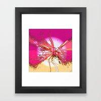 The tangled sunset web Framed Art Print