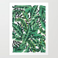 Tropical Glam Banana Lea… Art Print