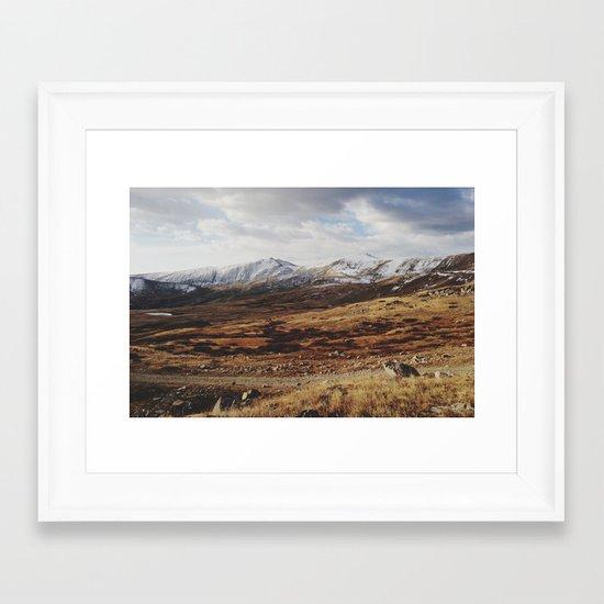 Mosquito Pass Rocky Mountains Framed Art Print