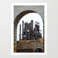Bethlehem Steel Blast Furnace 6 Art Print