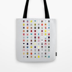 Minimalism robots (Good natured / Defenders) Tote Bag