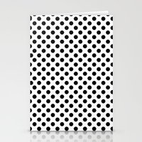 Black And White Polka Do… Stationery Cards