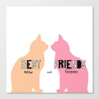 MEOW & FOREVER Canvas Print