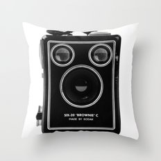 Box Brownie Throw Pillow