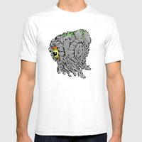 Battle Damaged Hedorah Mens Fitted Tee White SMALL