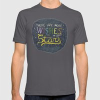 There are more wishes than stars Mens Fitted Tee Asphalt SMALL