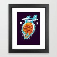 Electric rabbit Framed Art Print