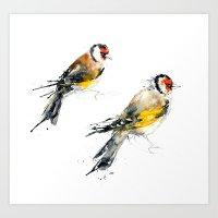 British Birds - Goldfinc… Art Print