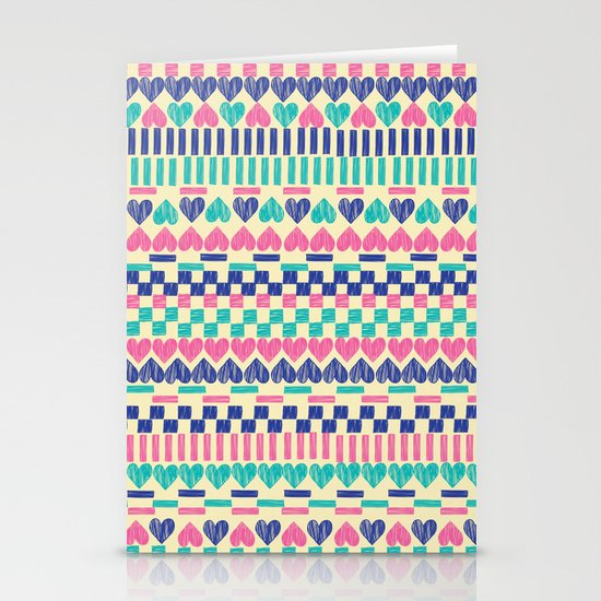 Hearts Stationery Card