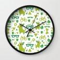 Hipsdeer (green) Wall Clock