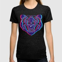 Yo Bear Womens Fitted Tee Tri-Black SMALL