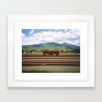 Train Car. Framed Art Print