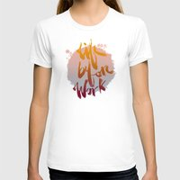 Life Before Work Womens Fitted Tee White SMALL
