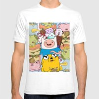 Adventure Time Mens Fitted Tee White SMALL