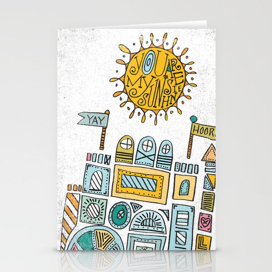 BUILDING BLOCKS Stationery Card