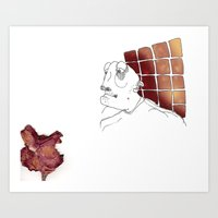Smell faded Art Print