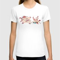 Cronenberg Rick And Mort… Womens Fitted Tee White SMALL