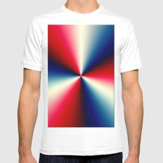 Red, White & Blue SMALL Mens Fitted Tee White